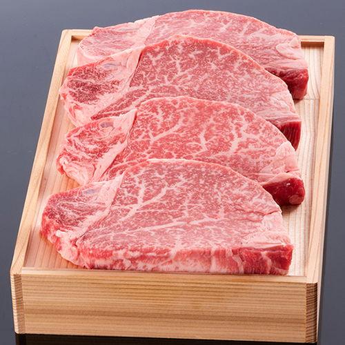 松阪牛ヒレステーキ150g 4枚 木箱入り