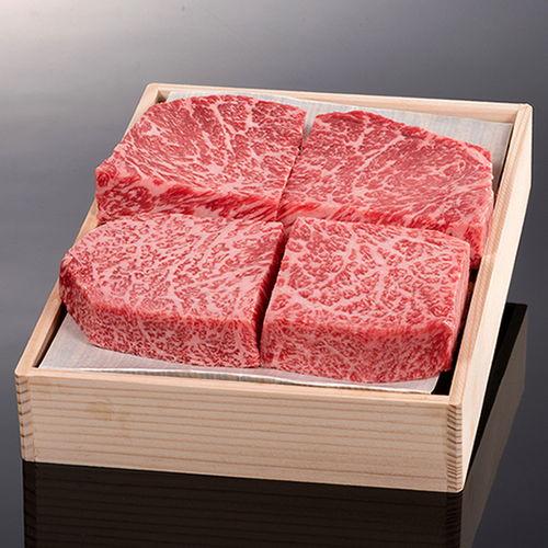 松阪牛ロース芯だけステーキ150g 4枚 木箱入り