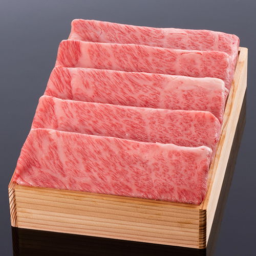 松阪牛すき焼き(ロース・肩ロース) @2200 600g 木箱入り