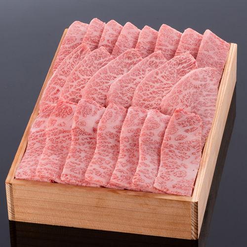 松阪牛焼肉用(肩・モモ・バラ) @1750 600g 木箱入り