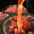 松阪牛焼肉用(肩・モモ・バラ)  400g 木箱入り包装イメージ