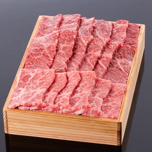 松阪牛焼肉用(肩・モモ・バラ) @1500 800g 木箱入り