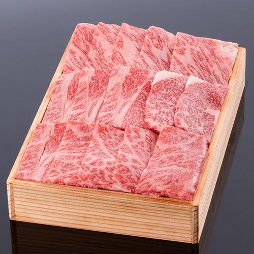松阪牛焼肉用(肩ロース)  400g 木箱入り